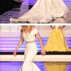 Racheal allen two piece dress worn once in pageant
